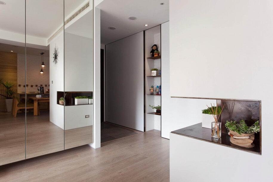 Astounding Mirror Interior Wall Contemporary Simple Design Home